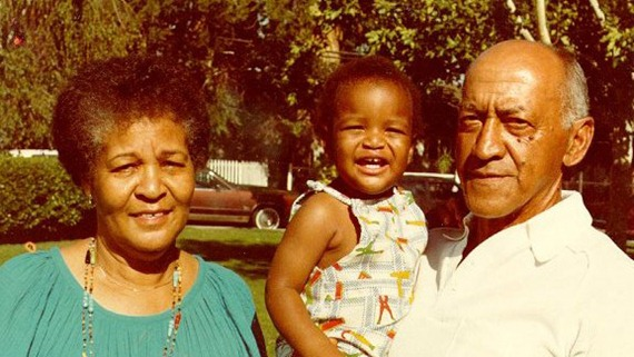 My grandmother, me, and my grandfather