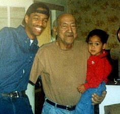 Me, Papa, and my godson David