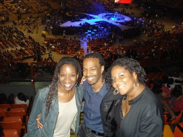 Robin Hill, Mark, and Keisha Parker attend a Prince concert the night she let us know she had cancer.