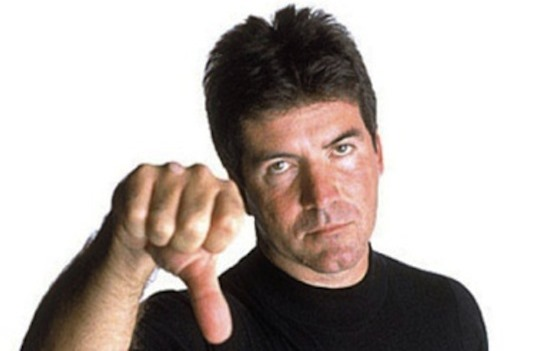 Simon Cowell is unimpressed.