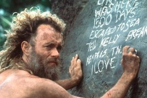Tom Hanks as Chuck Noland in Cast Away